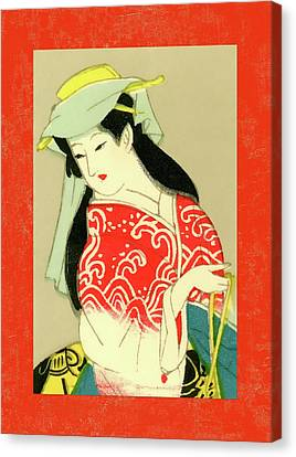 Labelled Canvas Print - Designer Series Japanese Matchbox Label 135 by Carol Leigh