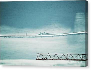 Canvas Print featuring the photograph Designs And Lines - Winter In Switzerland by Susanne Van Hulst