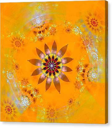 Canvas Print featuring the digital art Designs On Gold by Richard Ortolano