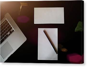 Desk, Desktop, Top. Canvas Print by Jan Pavlovski