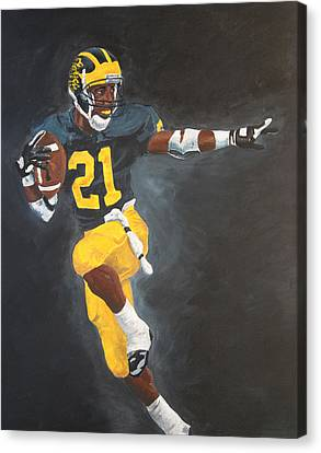 Desmond Heisman Canvas Print by Travis Day