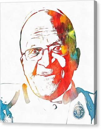 Desmond Tutu Watercolor Canvas Print