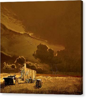 desolate landscape - Oregon Canvas Print by Jeff Burgess