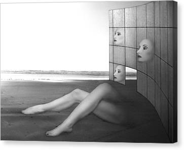 Desolate - Self Portrait Canvas Print by Jaeda DeWalt