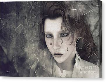 Melancholy Canvas Print - Despair by Jutta Maria Pusl