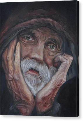 Despair Canvas Print by Tahirih Goffic