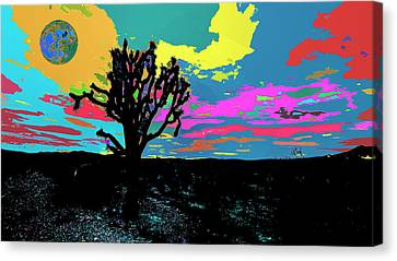Dessert World And Its Alternate Universe Canvas Print by Kenneth James