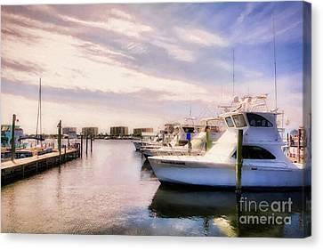 Destin Harbor Daydreams Canvas Print by Mel Steinhauer