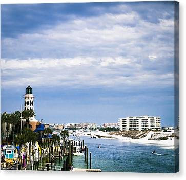 Destin Harbor  Canvas Print