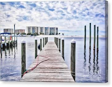 Destin Harbor Marina # 2 Canvas Print by Mel Steinhauer