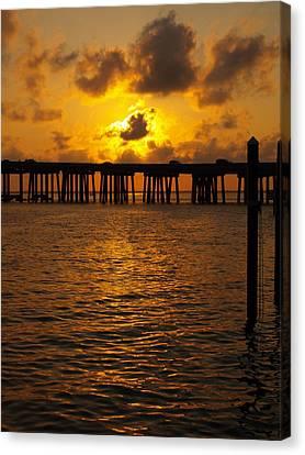 Destin Harbor Sunset 1 Canvas Print by James Granberry