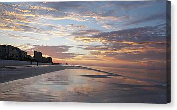 Destin Sunrise Canvas Print by Wayne Garmon