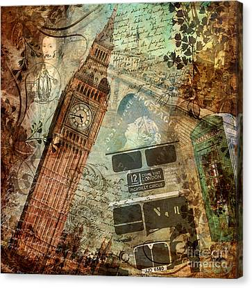 Destination London Canvas Print by Mindy Sommers