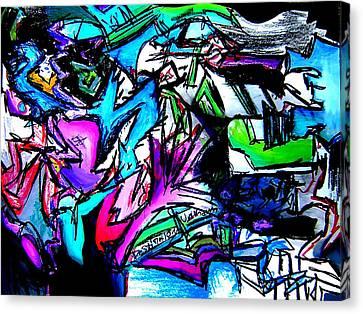 Tim Canvas Print - Destination Unknown Neon by Jera Sky
