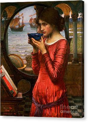 Red Dress Canvas Print - Destiny by John William Waterhouse