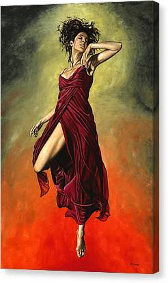 Ballerinas Canvas Print - Destiny's Dance by Richard Young