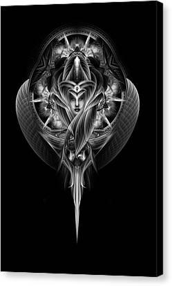Destiny's Vision Fractal Fantasy Portrait Canvas Print