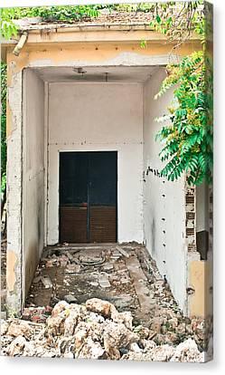 Asbestos Canvas Print - Destroyed Building by Tom Gowanlock