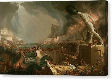 Destruction  Canvas Print by Thomas Cole