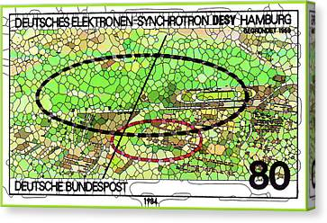 Microcosm Canvas Print - Desy Hamburg Electron Synchrotron by Lanjee Chee