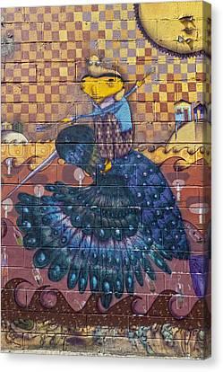 Detail - Mural Coney Island Canvas Print by Robert Ullmann