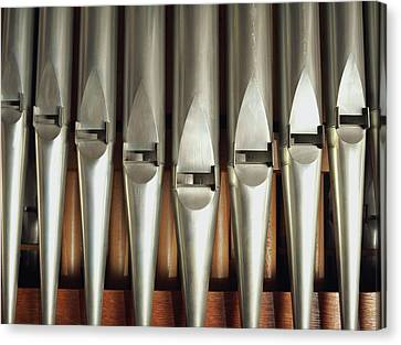 Detail Of A Pipe Organ Canvas Print by Gregor Hohenberg