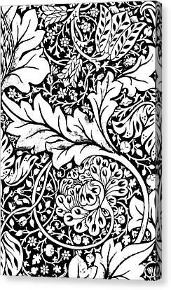Detail Of A Vintage Textile Pattern Design By William Morris Canvas Print