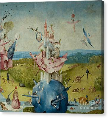 Detail Of Central Panel From  Canvas Print by Hieronymus Bosch