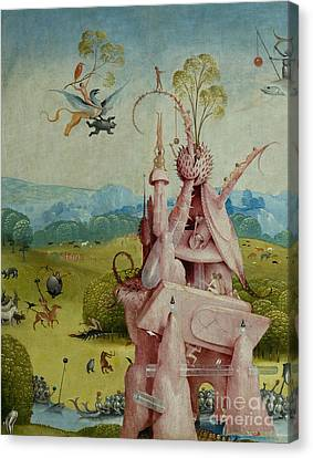 Detail Of Central Panel  The Garden Of Earthly Delights Canvas Print by Hieronymus Bosch