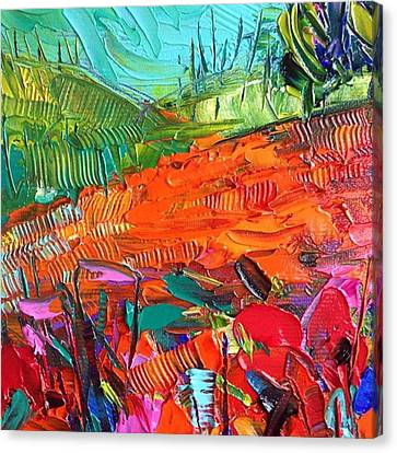 Detail Of New #paletteknife Canvas Print