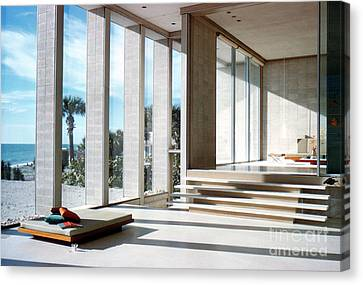 Detail Of The Deering House By Architect Paul Rudolph Canvas Print