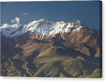 Detail View Of Volcano Chachani Near City Of Arequipa, Peru Canvas Print