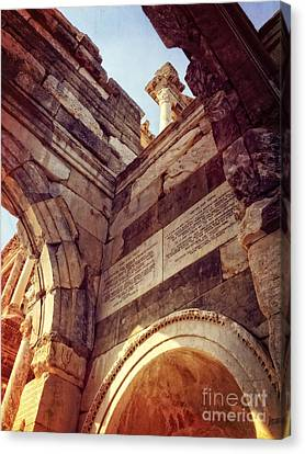 details of Ephesus Canvas Print by HD Connelly