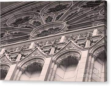 Details Of The National Cathedral Canvas Print