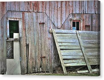 Deteriorated Side Of The Barn Canvas Print by William Sturgell