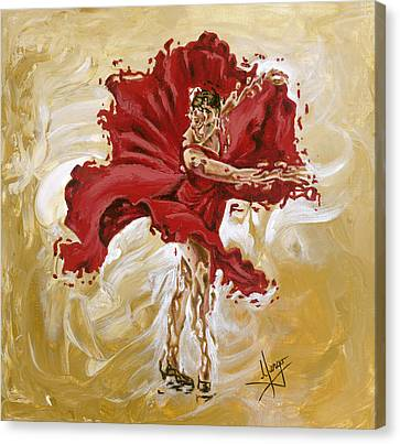Determination Canvas Print by Karina Llergo