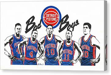 Detroit Bad Boys Canvas Print by Chris Brown