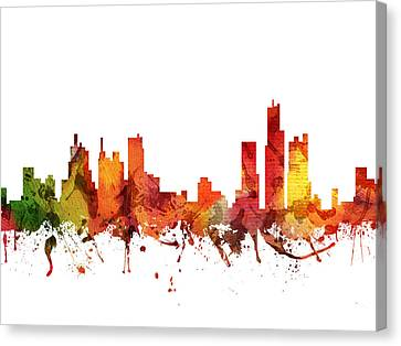 Detroit Cityscape 04 Canvas Print by Aged Pixel