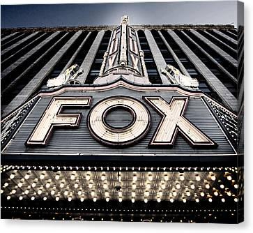 Detroit Fox Theatre Canvas Print by Alanna Pfeffer
