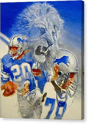 Detroit Lions Game Day Cover Canvas Print by Cliff Spohn