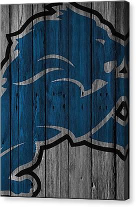 Lions Canvas Print - Detroit Lions Wood Fence by Joe Hamilton