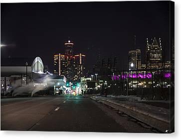 Canvas Print featuring the photograph Detroit Michigan by Nicholas Grunas