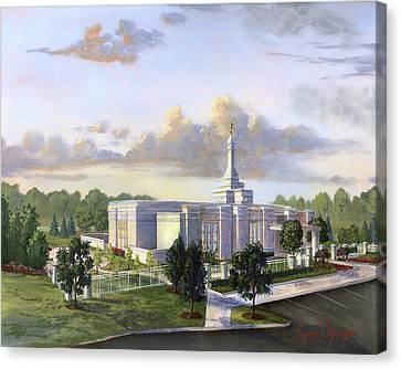 Detroit Michigan Temple Canvas Print by Jeff Brimley