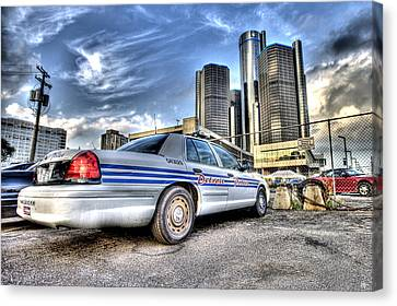 Detroit Police Canvas Print by Nicholas  Grunas