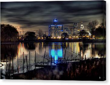 Detroit Reflections Canvas Print