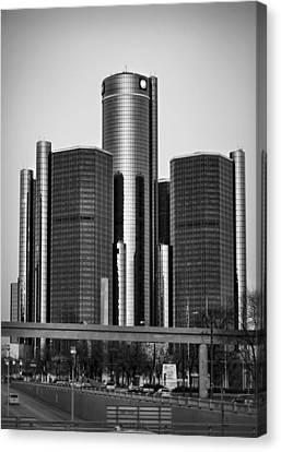 Detroit Renaissance Center General Motors Gm World Headquarters Canvas Print by Ryan Dean