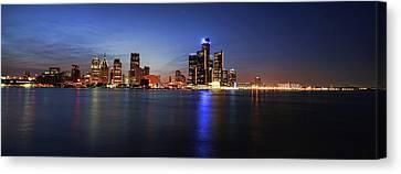 Detroit Skyline 1 Canvas Print by Gordon Dean II