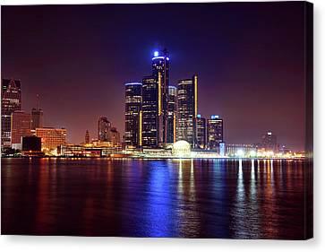 Detroit Skyline 4 Canvas Print by Gordon Dean II