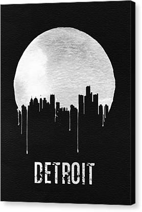 View Canvas Print - Detroit Skyline Black by Naxart Studio