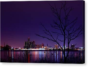 Detroit Skyline Canvas Print by Cale Best
